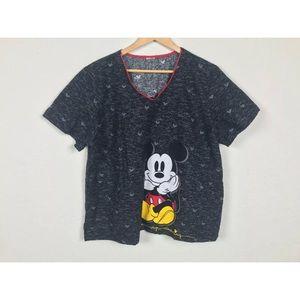 Top Scrub Mickey Mouse Disney Short Sleeve Sz 2X